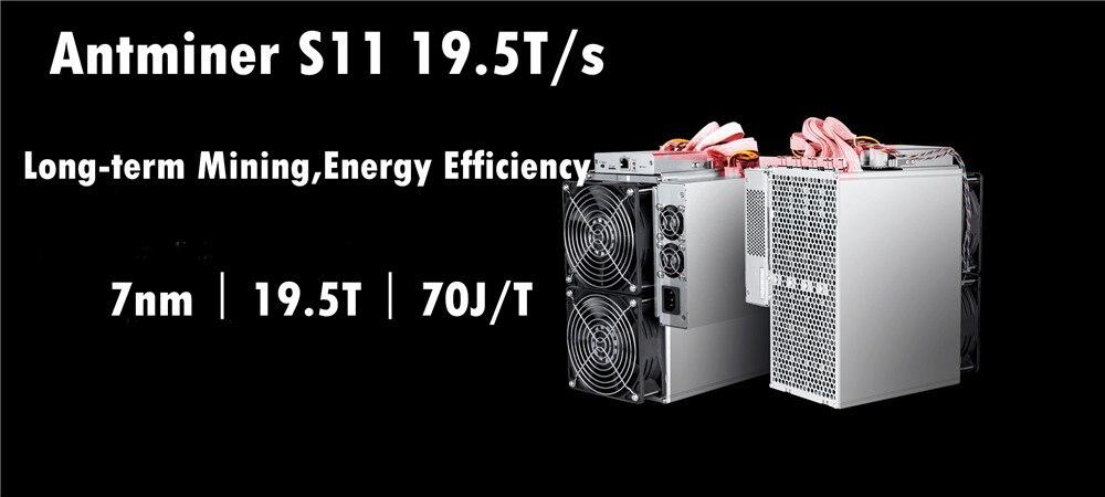 Mais novo S11 19.5 T Com PSU Bitcoin AntMiner BTC Miner Better Than S9 BCH S9i S9j T15 Z9 WhatsMiner M3 m3X M10