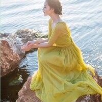 Runway Designer 3321 Aristocratic Temperament Fairy Condole Belt Backless Dress Chiffon Dress Beach Holiday