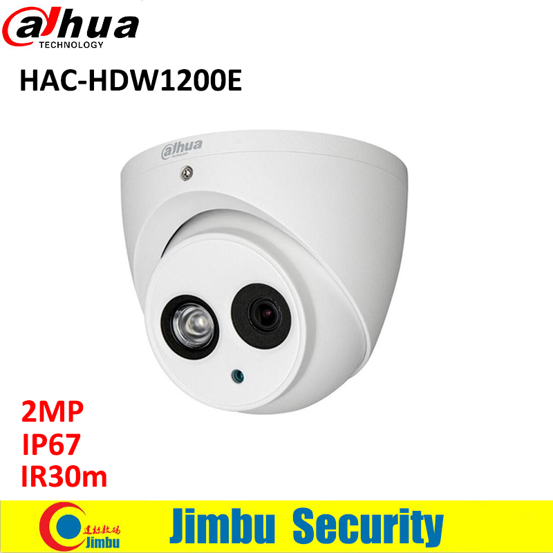 DAHUA HDCVI 2MP DOME Camera CMOS 1080P IR 20M IP67 HAC-HDW1200E CCTV security camera long distance real-time transmission dahua hdcvi 1080p bullet camera 1 2 72megapixel cmos 1080p ir 80m ip67 hac hfw1200d security camera dh hac hfw1200d camera