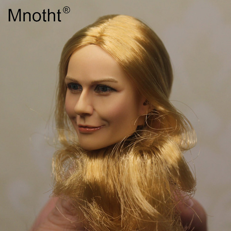 Mnotht Toys 1:6 Scale KUMIK Female Head Sculpt For 12 Hot Toys Action Figure Body KM16-10 Head Carving Model Toys Hobbies m3