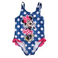 Hot Baby Girls Kids Child Bikini Set Cartoon Polka Dot One-Piece Swimsuit Toddler minie Mouse Swimwear Beach Bathing Suit цена