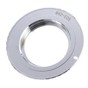 Image 2 - 9th génération AF confirmer avec anneau adaptateur de puce pour objectif M42 à Canon EOS 750D 200D 80D 1300D