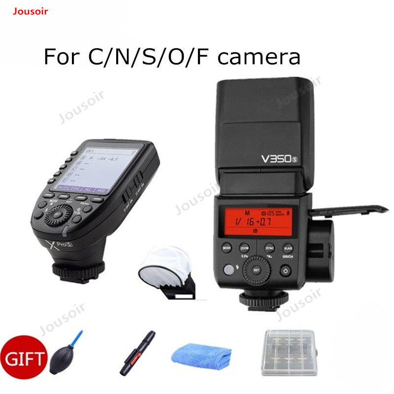Godox V350 TTL HSS 1/8000s Speedlite Flash With Built-in 2000mAh Li-ion Battery With Xpro-S Flash Transmitter+GIFT CD50 T03