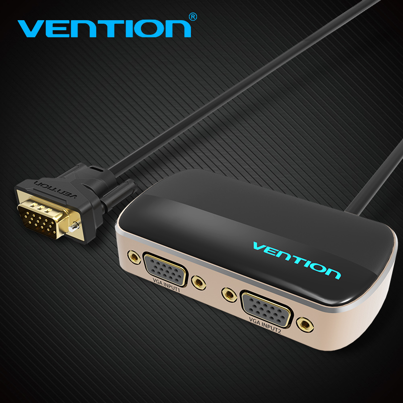 Vention 2 in 1 out VGA Switcher Adapter HD 1080P 60Hz Converter With Power Supply For La ...