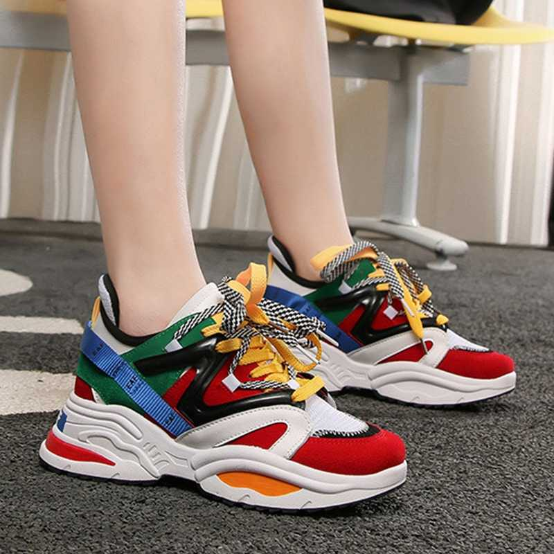 65111fda58 Detail Feedback Questions about Women's Chunky Sneakers Thick sole ...