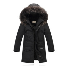 Boys Long Style Zipper Down Parkas Children Winter Windproof Thickening Casual Outwear Girls Velvet Christmas Snowsuits AA51891