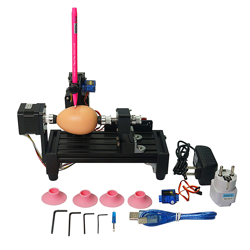 Normal size eggdraw eggbot Egg drawing robot  draw machine Spheres drawing on egg and ball for education children