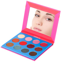 12 Color Eye Shadow Palette Shimmer Matte Glitter Makeup Palette Warm Highly Pigmented Eyeshadow Palette Cosmetic Eye Palette