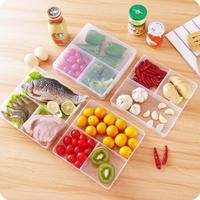 Japanese Style Multicellular Plastic Storage Box Food Packaging Box Microwave Lunch Box Refrigerator Organizer