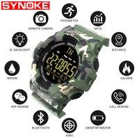 SYNOKE Mens Smart Sport Watch G Type Fashion Shock Digital Men Pedometer Calories Waterproof Smartwatch Wrist Watches