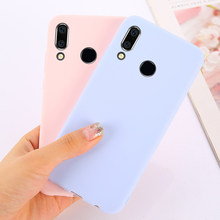 Soft TPU Candy Color Phone Case on For Huawei P30 P20 Mate 20 Pro Lite Honor 8C 8X Max 7A 7C 10 P Smart Y9 2019 Y5 Y6 2018 Case(China)