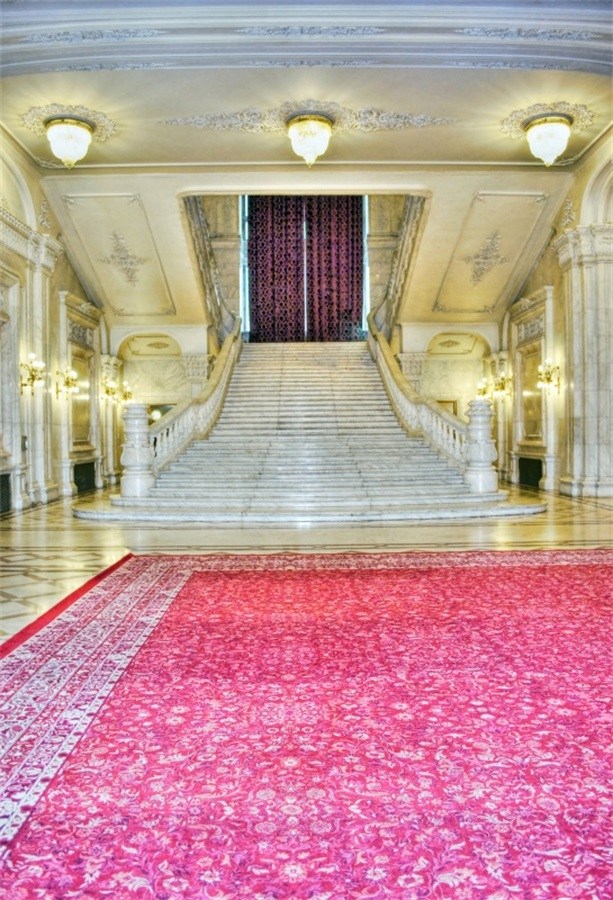 Laeacco Palace Interior Carpet Stairs Scenic Photography Backdrops Vinyl Photo Backdrop Custom Background Props For Photo Studio