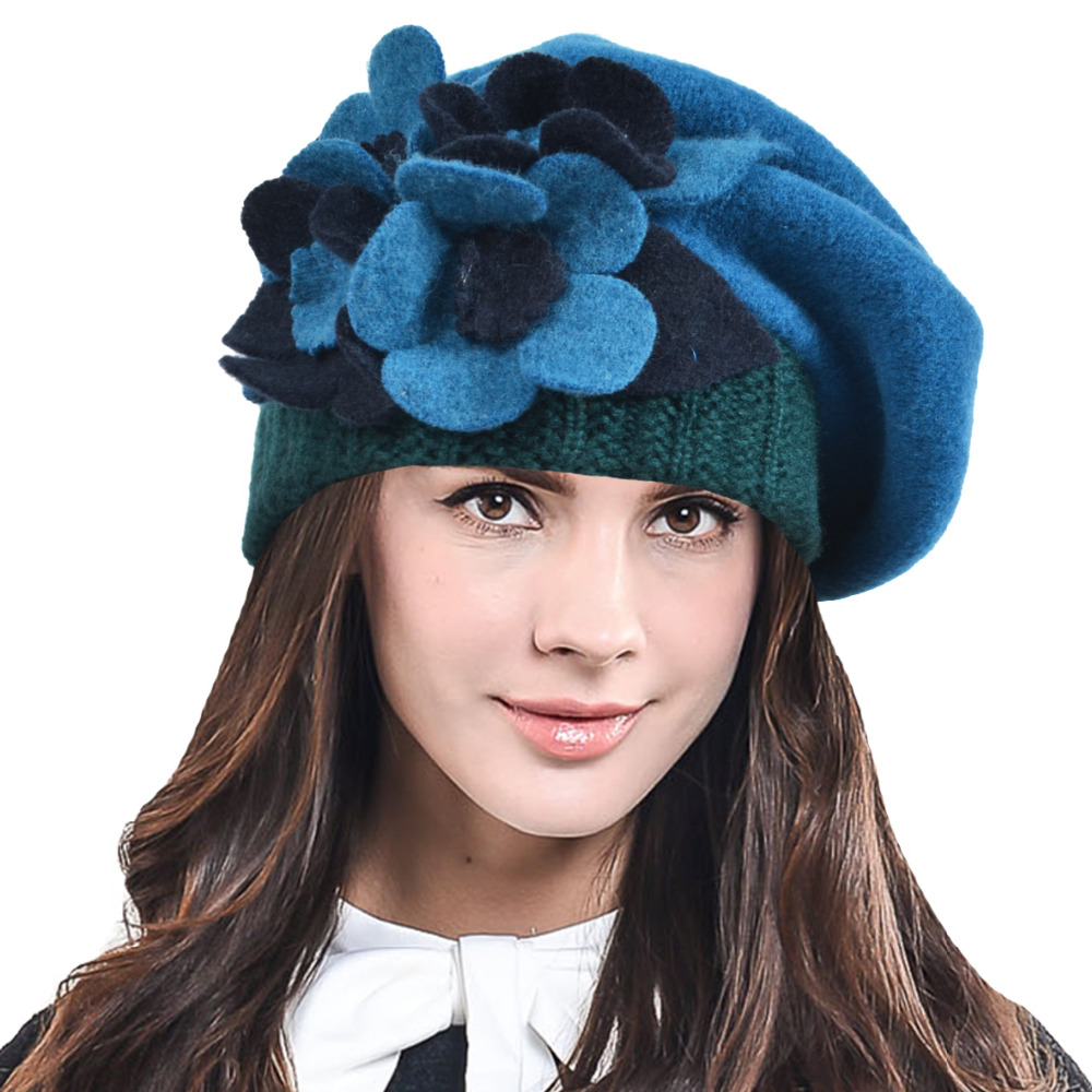 Ladies Wool Mix French Beret Hat Warm Winter Hat Ladies Girls Beret Hat c6e6b86c7e8c