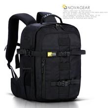 Novagear 134 dslr 카메라 가방 사진 가방 카메라 배낭 캐논/니콘 카메라에 대한 유니버설 대용량 여행 배낭