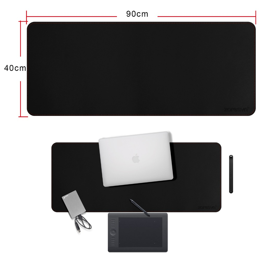 Zoresyn Large 900x400MM PU Leather Gaming Mouse Pad Big Keyboard Mat Extended Desk Pad&Mate for Office,Household,Gamer,School