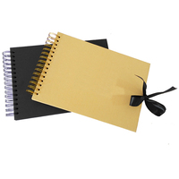 Album Scrapbook for Photoalbum Craft Paper DIY Scrapbooking Wedding Photo Album Anniversary Gifts Ribbon Clasp A4 Flip over