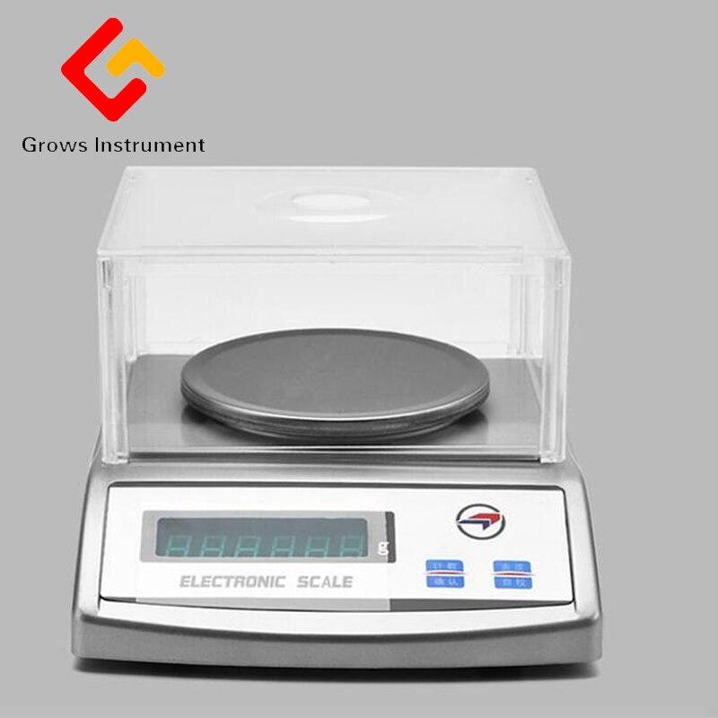 0.01 600g Balance Balance électronique analyse expérimentale de haute précision électronique Mini poche Balance numérique Balance de poids - 4