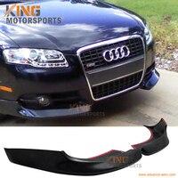 For 2005 2006 2007 2008 Audi A4 B7 Urethane Euro Front Bumper Lip Spoiler Splitters 2PCS PU
