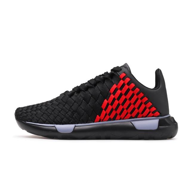 Для мужчин Мужская баскетбольная обувь Обувь с дышащей сеткой мягкие атлетика тканые спортивная обувь осень новая мода черный, красный профессиональные кроссовки