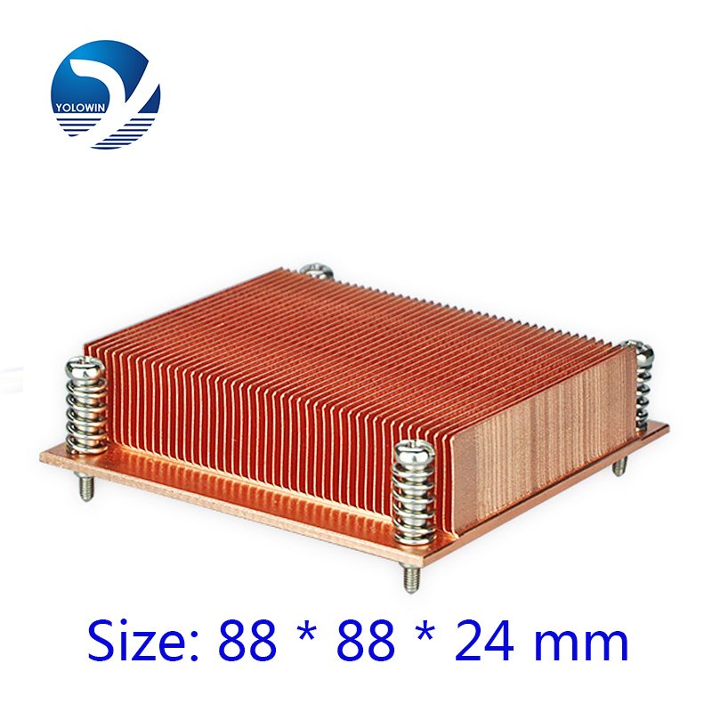 Heatsink Computer 1U passive solution Copper Form-relieved tooth Screw and Spring 4pins PWM Function CPU Slots radiator C5-01 1u server computer copper radiator cooler cooling heatsink for intel lga 2011 active cooling