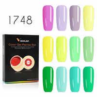 VENALISA Malerei Gel 12 stücke/kits Frühling Solide Farben Gel Lack Polish Nail art Design Nagel Gel Lack Farbe UV Gel in Box
