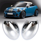 2Pcs ABS Chrome Car Left & Right Door Wing Mirror Cover Casing for BMW for Mini Cooper 2001-2006