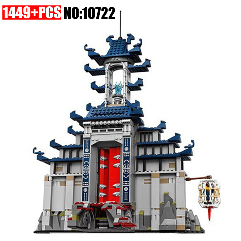 New 10722 Ninja series The Temple of The Ultimate Ultimate Weapon Model Building Blocks set Compatible 70617 Toys for children legoing chaos warriors caves 70596 ninja series 1307 building blcok set brick compatible 10530 toys for children gift