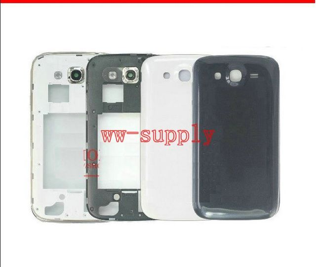 Full Housing Front Middle Frame Chassis + Back Battery Cover Case For Samsung Grand Neo GT-i9060