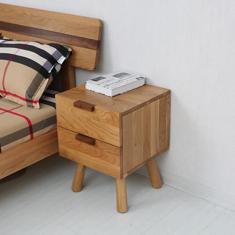 US $409.19 7% di SCONTO|Comodini comodino in legno massello Mobili Camera  Da Letto Mobili Mobili Per La Casa tavolino tavolo due cassetti camera da  ...