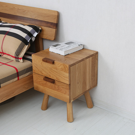 US $404.79 8% OFF|Nightstands Bedroom Furniture Home Furniture solid wood  bedside table side table two drawers bedroom storage cabinet 40*40*55cm-in  ...