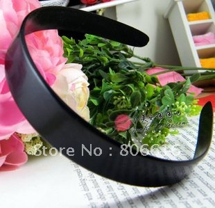 25MM/W 20PCS Black Acrylic Plastic Hairband Headband DIY Hair Clips Jewelry Accessory Findings