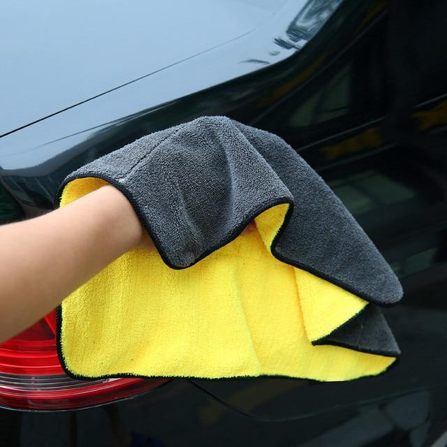 1 pieza para el cuidado del coche, toallas de lavado de microfibra, toalla de secado, paño de limpieza de coche de fibra de poliéster de felpa gruesa fuerte
