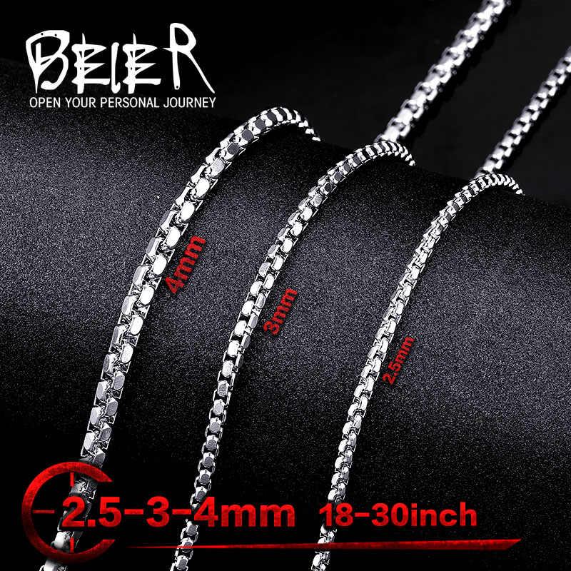 Hurtownia ze stali nierdzewnej wysokiej jakości unikatowy męski długi naszyjnik łańcuch 45 CM-75 CM BN1009