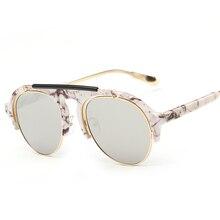 Laura de Hadas Moda La Mitad Sin Rebordes Piloto gafas de Sol de Protección ULTRAVIOLETA UV400 las mujeres de Los Hombres Gafas de Sol gafas de sol de los hombres 2017