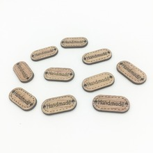 1000pcs Rustic Brown Wood Square Handmade Chips Buttons Embellishments 24x12mm Connectors DIY Crafts