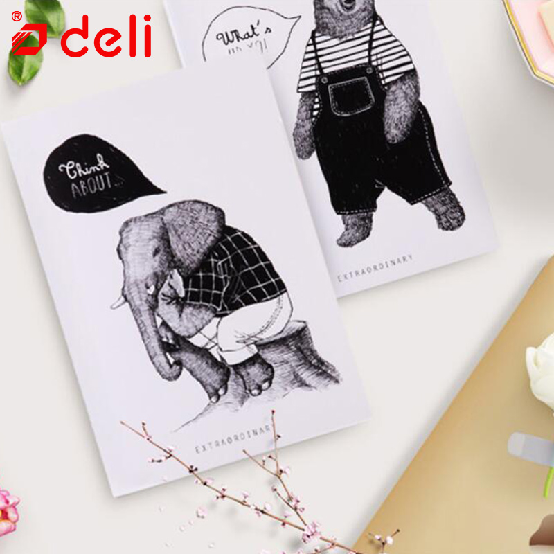 Deli 1PC Daily Notebook 60Sheets Student Stationery Diary A5 Journal Material Escolar Daily Memos Book Office & School Supplies planet sticker 60sheets
