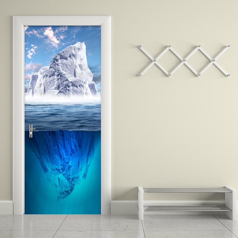Modern Simple Iceberg Photo Wallpaper Living Room Bedroom 3D Wall Door Mural PVC Self-Adhesive Waterproof Moisture-Proof Sticker custom mural wallpaper creative space forest path 3d wall sticker wallpaper modern living room bedroom door mural pvc home decor