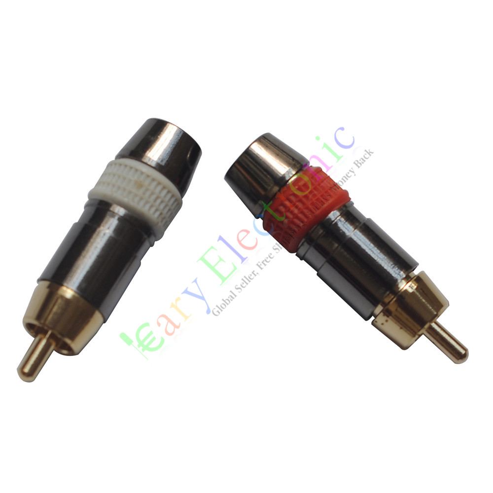Wholesale And Retail 20pc Copper Rca Plug Gold Plated