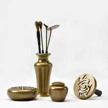 2016 hohe Qualität Duftlampe Set Kupfer Weihrauch werkzeuge Metall-handwerk Meditationsraum Buddhistischen Weihrauch Halter Dekoration