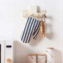 цена на ABS Hanging Hook Suction Cup Hat Handbag Key Sponge Brush Towel Storage Hooks Wall Hanger With Groove For Kitchen Bathroom