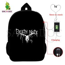 f9814dcc63a Death Note L Licht Rugzak Multifunctionele USB Opladen Laptop Rugzak voor Tieners  Studenten Daily Rugzak School