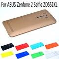 Reemplazo de la batería contraportada duro para asus zenfone 2 autofoto zd551kl thin pc caso protector de la batería cáscara del teléfono con logo