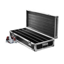 Skrzynia transportowa 4pic LED Beam 8x12W RGBW oświetlenie lub listwa LED 4x12W + 4x12W oświetlenie z ruchomą głowicą kontroler dmx mobilna walizka pakowana w Oświetlenie sceniczne od Lampy i oświetlenie na