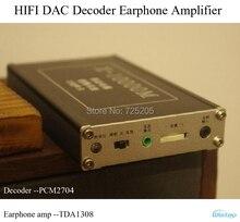 HIFI DACถอดรหัสหูฟังเครื่องขยายเสียงPCM2704 OP Amp TDA1308 9000มิลลิแอมป์ชั่วโมงแบตเตอรี่สำรองที่มีคุณภาพสูงค่าใช้จ่ายที่มีประสิทธิภาพจัดส่งฟรี