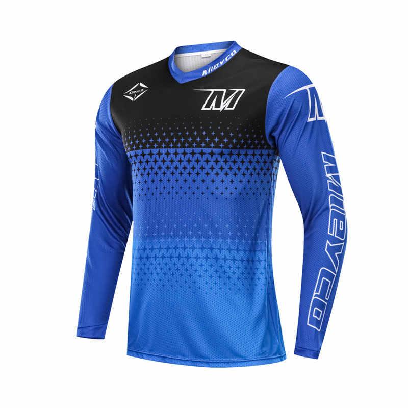 Cycling Jersey Long Sleeve Road Bike MTB Fast Dry Motocross Ride Team Clothing