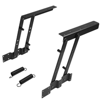 1Pair Lift Up Top Coffee Table Lifting Frame Mechanism Spring Hinge Hardware