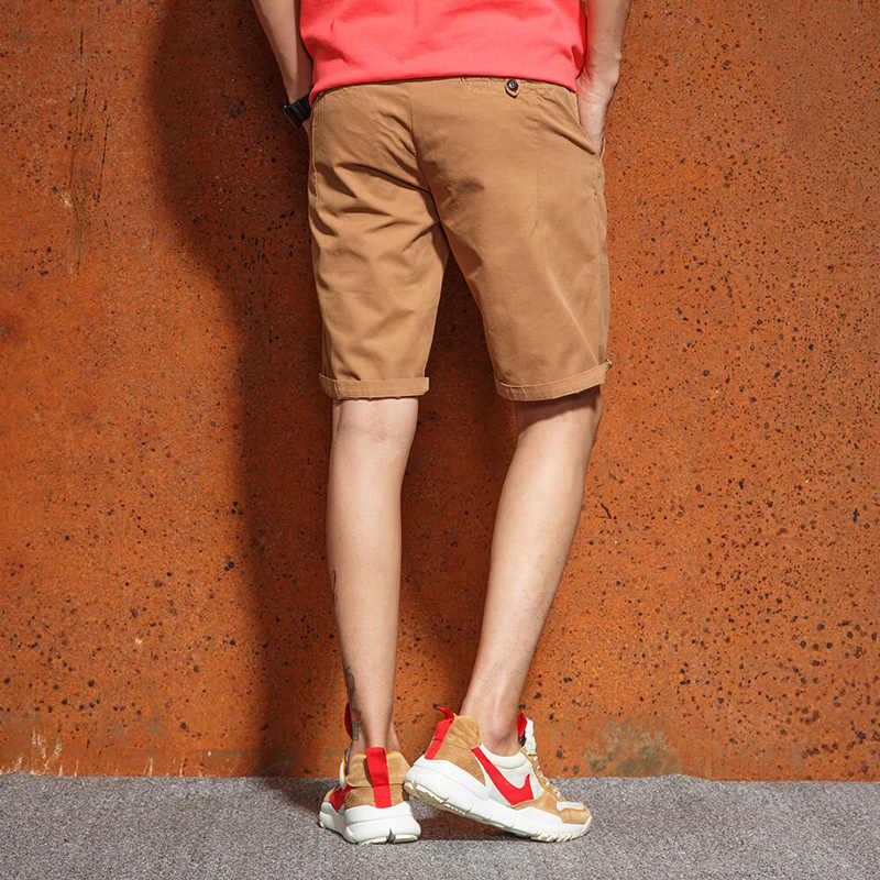 2018 New Style Summer Shorts Men Fashion Mens Shorts Casual Solid Knee-Length Men's Bermuda Cargo Shorts High Quality F57