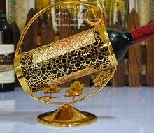 Freies verschiffen vergoldet weinregal metall weinregal für 750 ml weinflasche glashalter