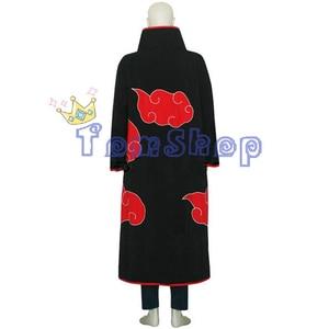 Image 4 - Anime Naruto Akatsuki Tobi Madara Uchiha Deluxe Edition Cosplay Costume 4 in 1 Wholesale Combo Set (Cloak + Mask + Boots +Ring)