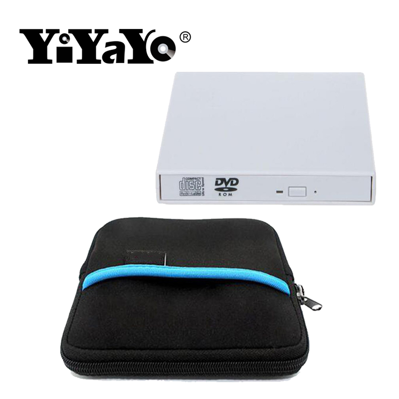 YiYaYo USB 2.0 External DVD drive Combo Recorder CD/DVD-ROM Player Portable Optical Drive For Computer Windows7/8/10 +Drive bag